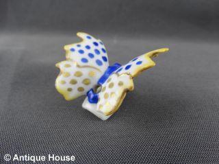 Alter Tropfenfänger Porzellan Schmetterling Blau Gold Dripcatcher Thüringen Mode Bild