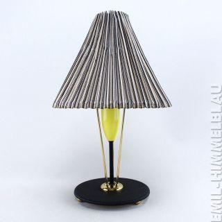 Lampe Tischlampe 50er Vintage Leuchte Mid Century 50s TÜte Rockabilly Bild