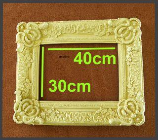 Prunkrahmen Weiß 40 X 30 / 30 X 40 Bilderrahmen Art Deco - Stil Rahmen W202 Bild