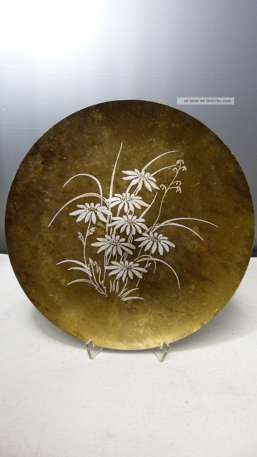 Antike Bronze Schale - Kunsthandwerk - Handbemalt - Vintage,  Wunderschön Bronze Bild