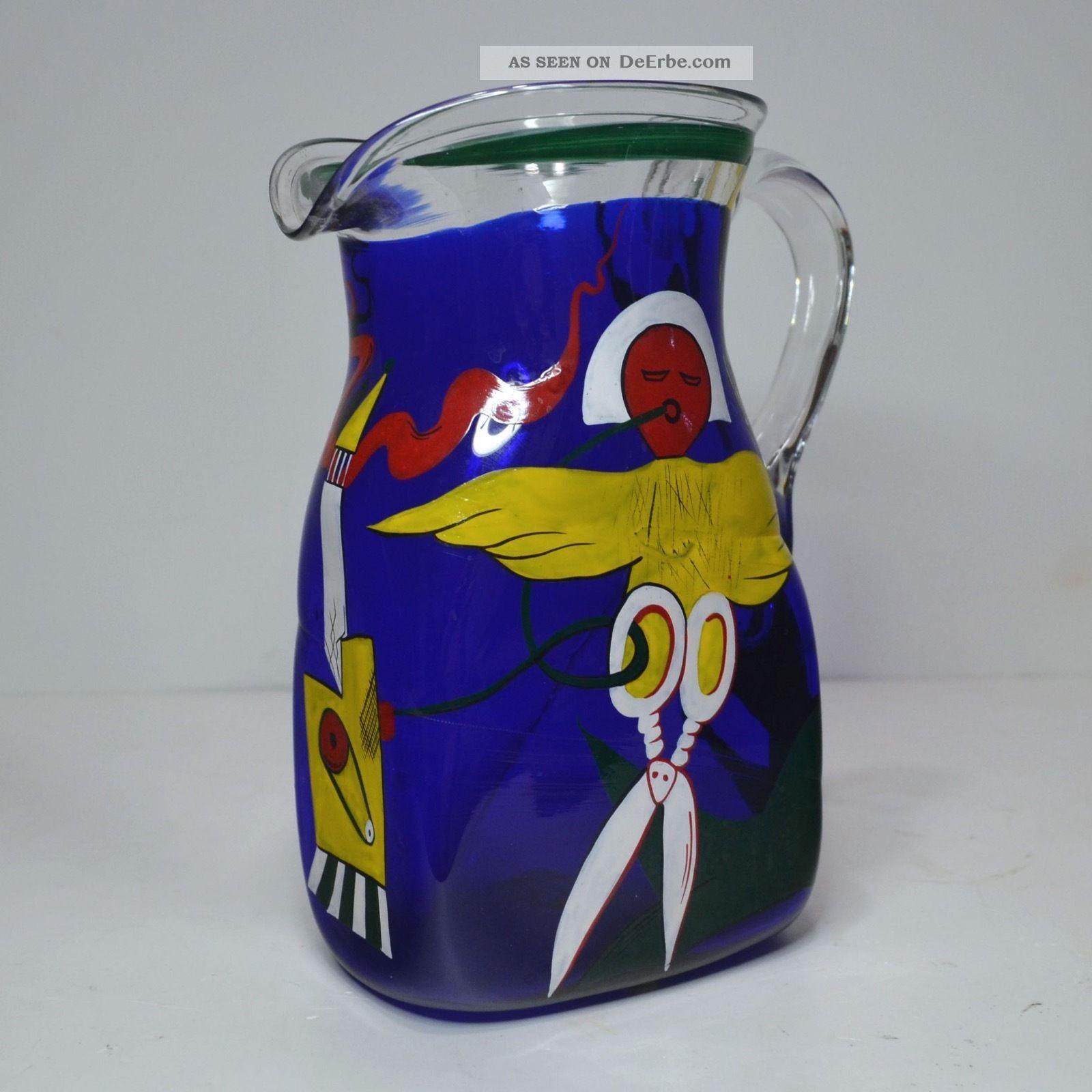 Künstler - Kanne Entw.  Christian Schlag F.  Glashütte Eisch 1993 Schneider V.  Ulm Sammlerglas Bild