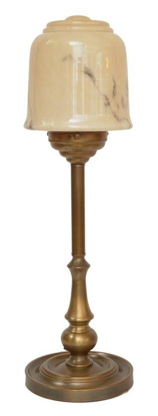 Wunderschöne Art Déco Jugendstil Tischlampe Schreibtischleuchte Messing Bild