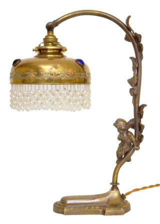Museale Französische Jugendstil Tischlampe
