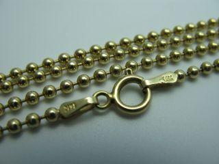 Midas Italy Klasse 57 Cm Lange 14 Karat 585 Gold Erbskette Perlenkette Bild