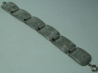 Sehr Schönes Alpenländisches 40er Jahre Armband Aus 835 Silber Bild