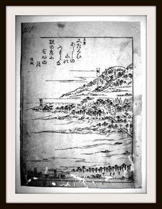 Japanischer Holzschnitt,  Tokugawa - Schogunat,  Reis - Papier,  Edo - Meisho - Zue,  Um1600 Bild