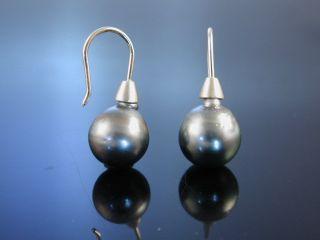 Edle Tahiti Zucht Perlen Ohrringe OhrhÄnger Gold 585 Tahitian Pearl Earrings Bild