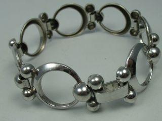 Unid Ausgefallenes 60er 70er Jahre Designer Armband Aus 925 Silber Bild