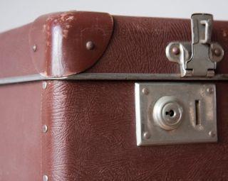 2 Grosse Alte Koffer Ca.  1930 Vintage Suitcase Vulkanfiber Veb Bild