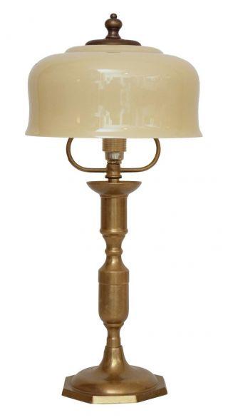 Zierliche Wunderschöne Jugendstil Tischlampe Messing Landhaus Messing Bild