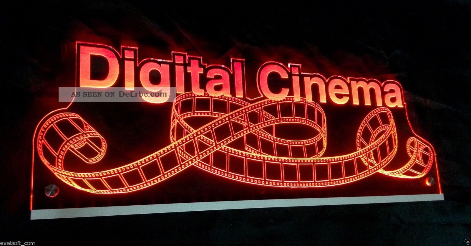 """Ihr Led Leuchtschild,  Led Licht,  Hinweisschild,  """"digital Cinema"""",  Filmrolle © Film & Bildprojektion Bild"""