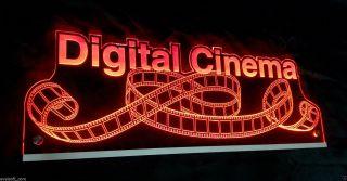 """Ihr Led Leuchtschild,  Led Licht,  Hinweisschild,  """"digital Cinema"""",  Filmrolle © Bild"""
