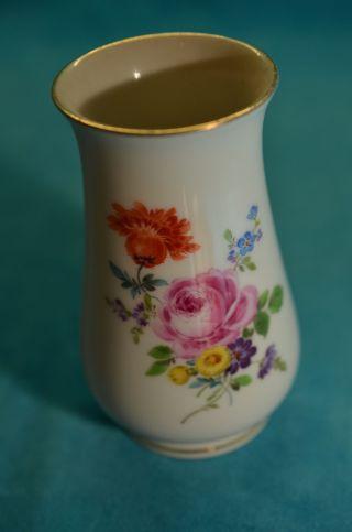Originale Meissen Vase Blumenmuster M.  Goldrand Bild