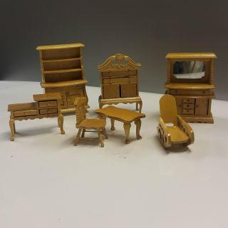 Puppenstuben Stilmöbel Möbel Wohnzimmer Esszimmer Vitrine Telefonschrank Buffet Bild