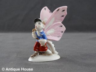 Ältere Porzellanfigur Schmetterling Lausbub Tischdekoration Thüringen Bild
