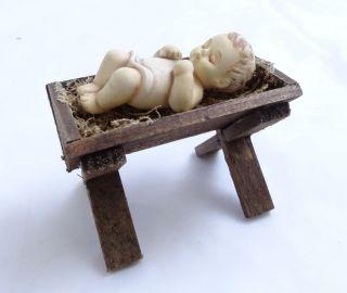 Hummel Goebel Jesus Kind In Krippe Mit Haaren Weihnachten Krippe Baby Bild