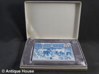 Meissen Porzellanplatte 800 Jahre Messe Leipzig Messeaufsteller Im Karton Bild