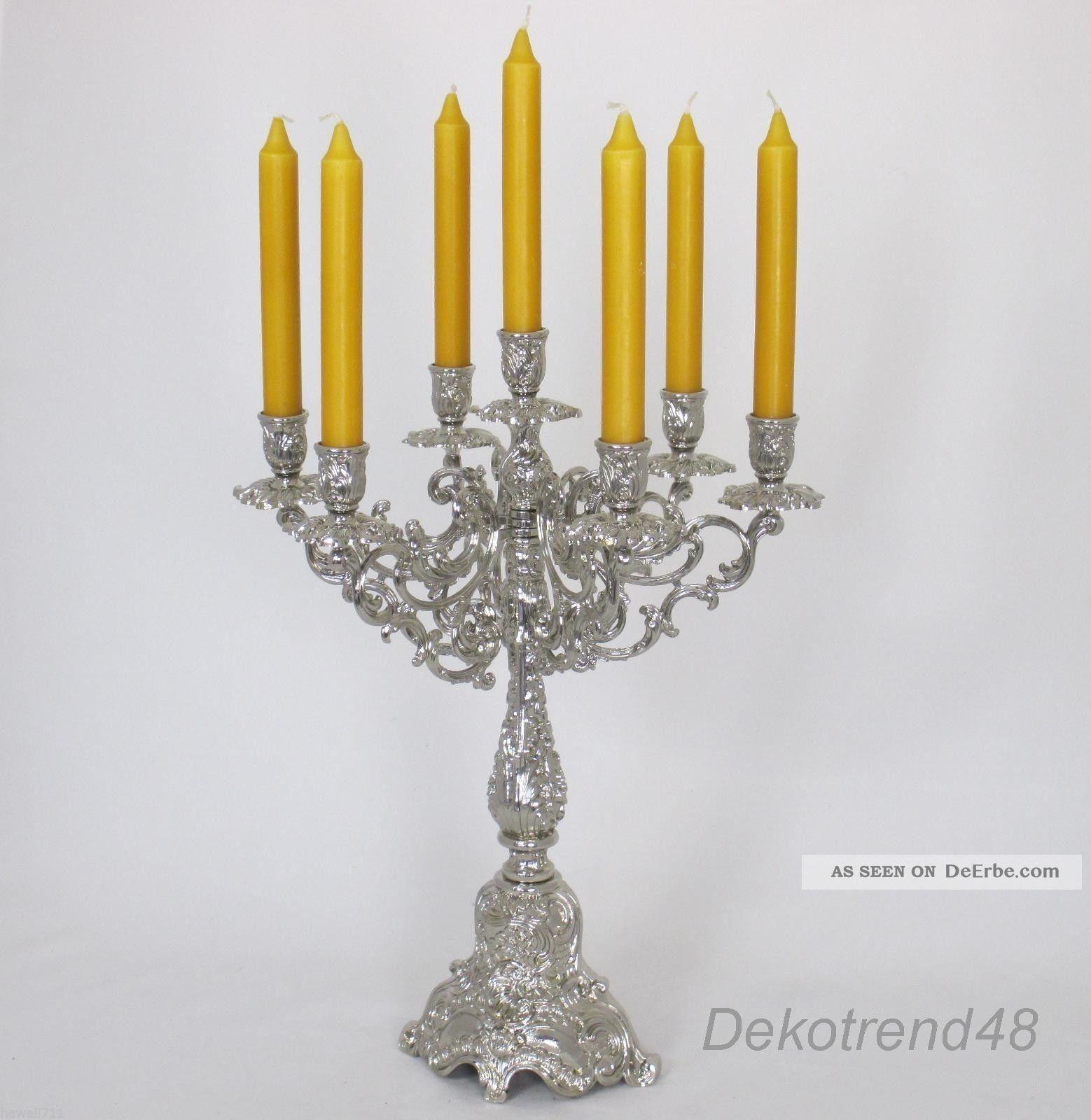 Prunkleuchter Kerzenleuchter Tischleuchter Kerzenständer Antik Barock Silber Gefertigt nach 1945 Bild