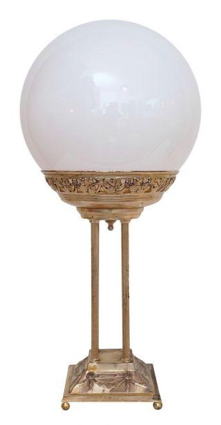 Wunderschöne Jugendstil Etagen Tischlampe Versilbert Um 1910 - 1930 Opalglas Bild