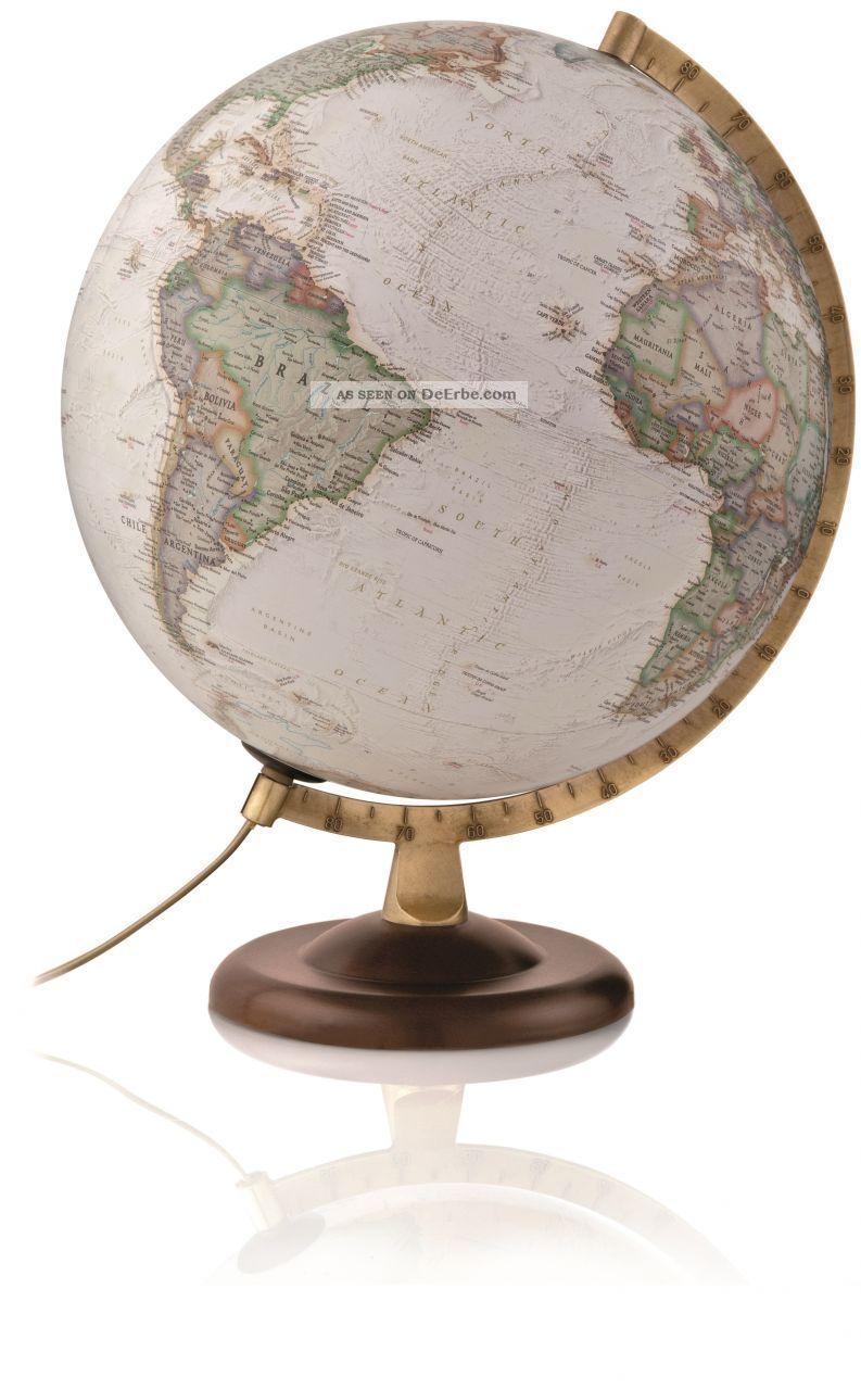 National Geographic Globus Gold Executive Antikstil Leuchtglobus Politsch 30cm Wissenschaftliche Instrumente Bild