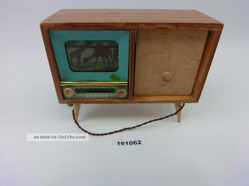 Ddr Puppenstube Fernseher Elektrisch Beleuchtet Puppenstubenfernseher 161062 Original, gefertigt vor 1970 Bild