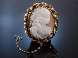 Antike Gemmen Brosche Kamee Duchess Of Devonshire England 1850 Pinchbeck Cameo Bild