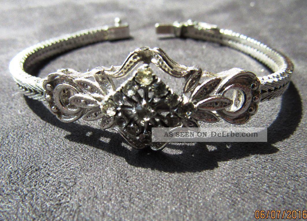 Jungendstil Armband Aus 800er Silber Makarasiten Kastenschloss Nw Gepunzt Schmuck nach Epochen Bild