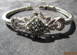 Jungendstil Armband Aus 800er Silber Makarasiten Kastenschloss Nw Gepunzt Bild