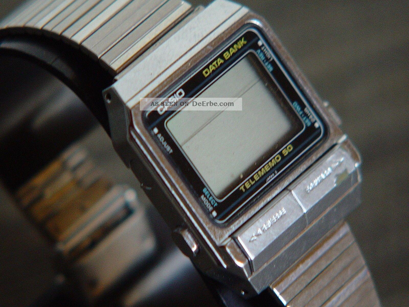Casio - Db - 500 Databank - Armbanduhr Telememo 50 Qw.  262 Japan AÑo.  1984 Ungeprüft 1970-1979 Bild