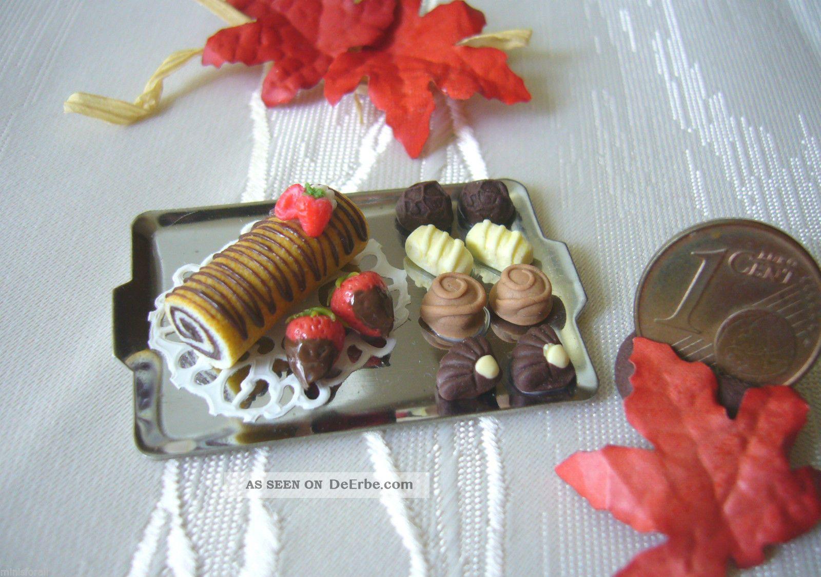 =1 GebÄckzange Konfektzange Metall= Miniatur Puppenstube Bäckerei 1:12 Byhw Kaufmannsläden & Zubehör Bild