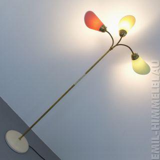 TÜtenlampe Bunt Stehlampe 50er 60er Pastell Rockabilly Lampe Vintage Mid Century Bild