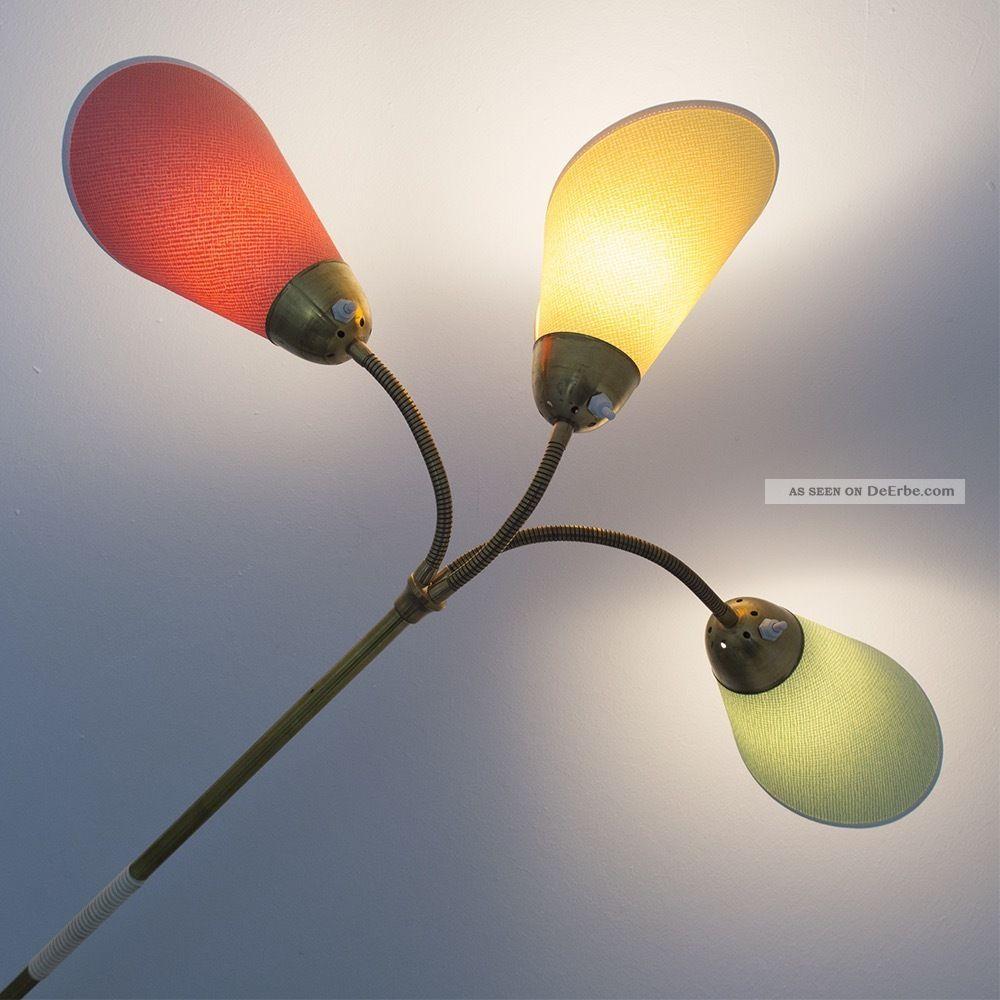 Tutenlampe Bunt Stehlampe 50er 60er Pastell Rockabilly Lampe