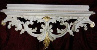 Wandkonsole Holz Antik/spiegelkonsolen/wandregal Barock Gold B:73cm Cp71ap Ivory Bild