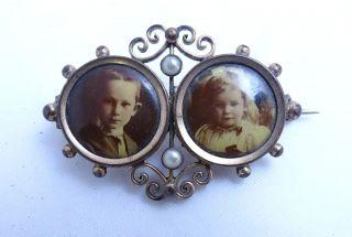 Antike Herrliche Jugendstil Bilder Brosche Bild