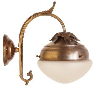 Einmalig Schöne Jugendstil Wandlampe Wandleuchte Messing Keilschliff Bild