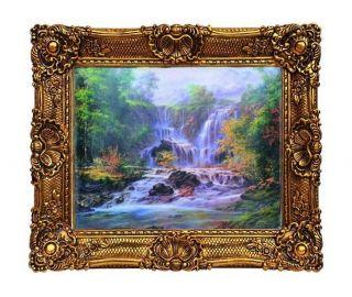 Großer Barock Bilderrahmen 75 X 95 / 50 X 70 Cm Gemälde Prunkrahmen Antik Look Bild