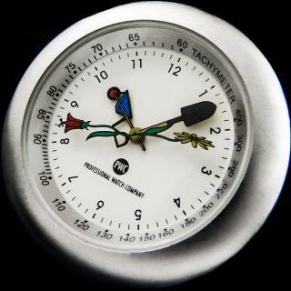 Pwc Professional Watch Company Garten Design Tischuhr Tachymeter Uhr Mit StÄnder Bild