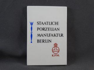 Verkaufsaufsteller Werbeaufsteller Staatliche Porzellan Manufaktur Berlin Kpm Bild
