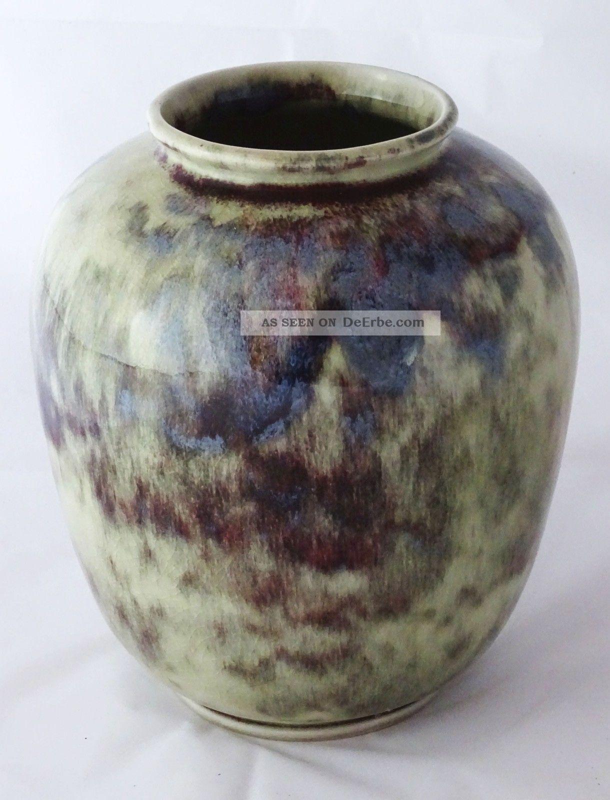 Wmf Ochsenblut Keramik Vase Art Déco Entwurf Gerda Conitz Konitz 1920-1949, Art Déco Bild
