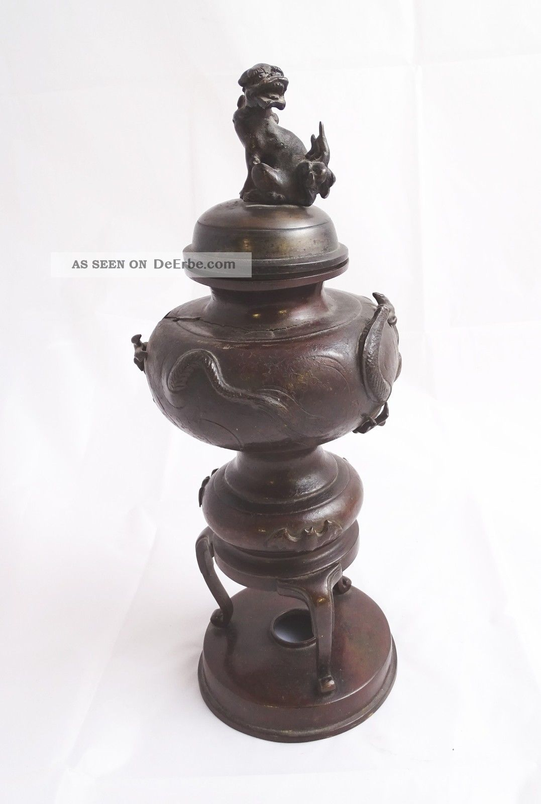 Antikes Japanisches Räuchergefäß Rauch Gefäß Tier Darstellung Motiv Wohl Bronze Asiatika: Japan Bild