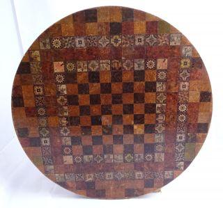 Große Antike Tischplatte Rund Städte U.  Tier Motive Windmühlen Abb.  Vor 1900 Bild