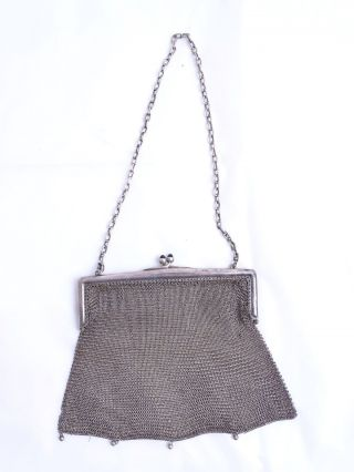 Antike Herrliche Abendtasche Alpacca Versilbert Um 1900 Handtasche Robert Kraft Bild