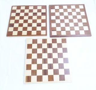 3 Alte Schachbretter Spielbretter Aus Holz Bild