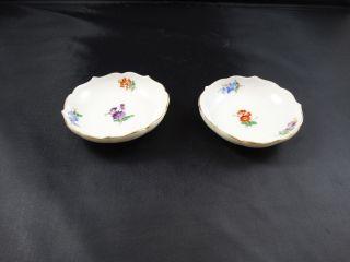 Meissen 2 Alte Kleine Tellerchen Schalen Streublümchen Bild