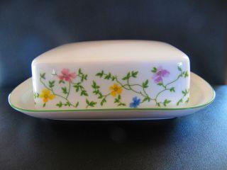 Porzellan - Butterdose 250 Gramm Von Arzberg - Form 1382 - Cambridge - Bunt - BlÜten Bild