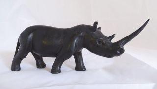 Alte Große Tierfigur Afrika Nilpferd Handgeschnitzt Handarbeit Bild