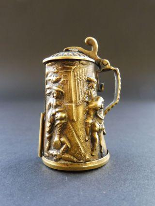 Jugendstil Bierkrug Maßband Art Nouveau Beer Stein Measuring Tape Austria Antik Bild