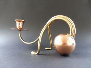 Carl Deffner Esslingen Jugendstil Design Leuchter Art Nouveau Candlestick Kupfer Bild