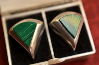 Ohrringe Ohrclips Mexiko Sterlingsilber 925 Mit Stein Besetzt Bild