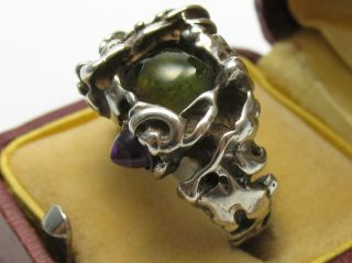 Juhls Norway Handarbeit Top Massiver Designer Ring Aus 925 Sterling Silber Bild